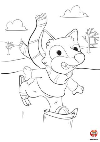 Le loup aime l'hiver et le froid. Il en profite pour sortir de chez lui et jouer dans la neige toute blanche. Regarde-le glisser sur la glace, il a l'air de bien s'amuser. Toi aussi tu veux t'amuser ? Va sur TFou.fr et imprime ce coloriage de loup pour enfant. Prends tes plus beaux crayons de couleurs et colorie le loup en train de faire du patin à glace. Tu peux même colorier son pull ou son écharpe des couleurs de ton choix.