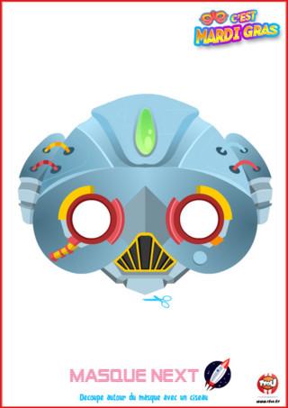 Tu adores la tribu Next et tu veux la défendre pour Mardi Gras? Alors imprime vite ce masque de la tribu Next offert par TFou ! Colorie-le comme tu le souhaites et porte-le pour Mardi Gras !