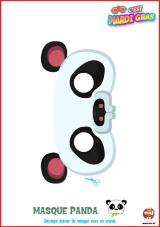 Tu aimes représenter la tribu Panda pour Mardi Gras? Alors imprime vite ce masque de la tribu Panda offert par TFou ! Colorie-le comme tu le souhaites et porte-le pour Mardi Gras !