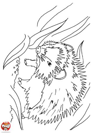 Coloriage: Hérisson dans les branches