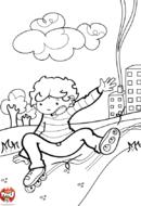 Enfant par terre