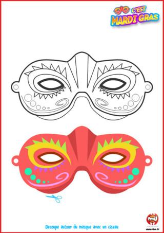 Utilise ce magnifique masque offert par TFou pour te déguiser le jour de Mardi Gras . Imprime-le vite, colorie-le comme tu le souhaites et porte-le pour le Carnaval.