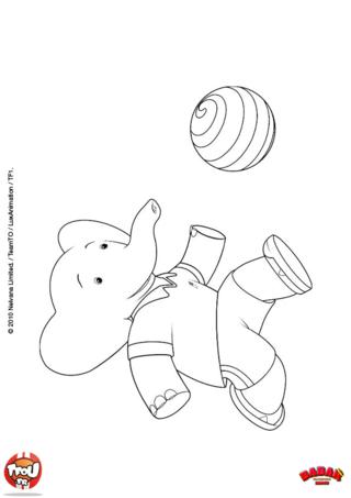 Coloriage: Badou et son ballon