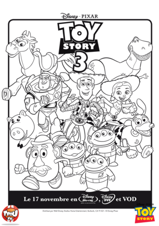 Coloriage: Toy Story groupe