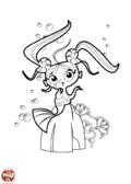Sirène avec des couettes