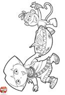 Dora et Babouche portent des fruits