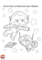 dora et Babouche dans l&#039;espace