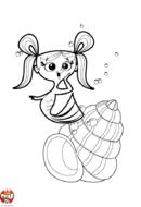Sirène sort de son coquillage