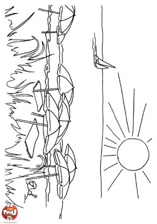 Coloriage: Au soleil