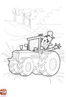 Agriculteur sur le tracteur