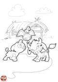 Dans la cour de la ferme