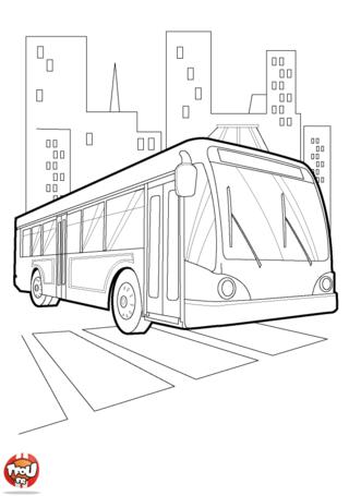 Coloriage: Le bus