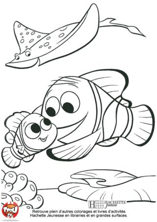 Coloriage: Marin et Nemo