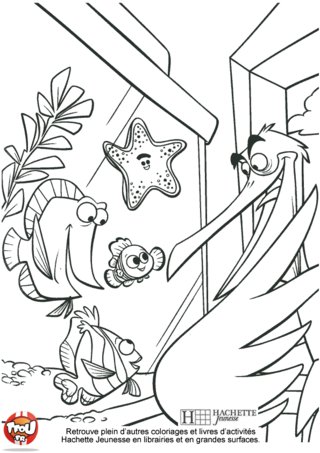Coloriage: Nemo et ses amis