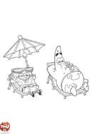 Bob l'éponge et Patrick au soleil