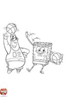 Bob l'éponge et Patrick au basket
