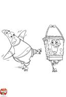 Bob l'éponge et Patrick en roller