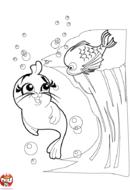 Petit phoque sous l'eau