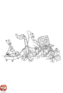 Bob l'éponge et ses amis en vélo