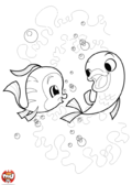 Deux poissons jouent