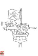 Bob l'éponge et Patrick pirates