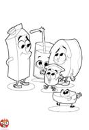 Les produits laitiers de la cantine