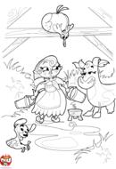 La traite de la vache