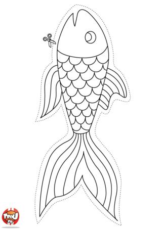 Coloriage : Savais-tu qu'on fait des blagues le 1er avril en accrochant un poisson en papier dans le dos de ses amis ? Pour le 1er avril, imprime gratuitement plein de coloriages poisson d'avril sur TFou.fr. Colorie-les et amuse-toi à faire des blagues à tes amis. Imprime ce poisson d'avril, colorie-le de toutes les couleurs et accroche-le dans le dos de la personne à qui tu veux faire des blagues. Ça va être super de fêter le 1er avril. Si tu es blagueur, tu vas bien t'amuser. Imprime vite gratuitement plein d'autres coloriages de poisson d'avril sur TFou.fr. Génial !