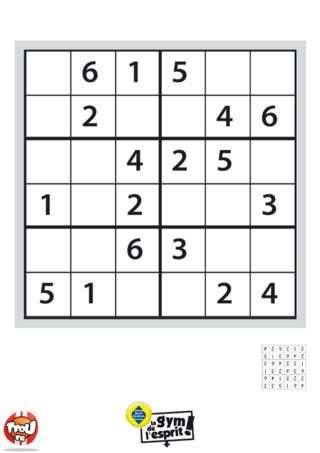 Coloriage: Sudoku Grille 1