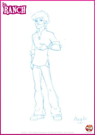 Coloriage: décore ce beau dessin d'Angelo selon tes envies. Imprime gratuitement ce coloriage sur TFou.fr !
