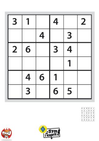 Coloriage: Sudoku Grille 2