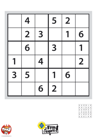 Coloriage: Sudoku Grille 3