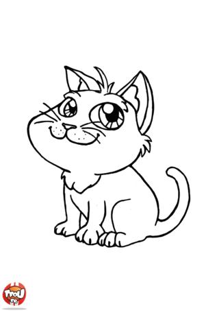 Chats mignons dessin - Coloriages de chats ...