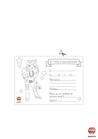 Bientôt ton anniversaire ? Sur TFou.fr, retrouve cette superbe invitation d'anniversaire gratuite à imprimer, pour convier tous tes amis à le fêter avec toi. Si tu aimes la mode, tu pourras colorier la jolie fille et lui donner des couleurs pour que comme toi, elle soit la plus belle pour le grand jour. Prends tes crayons, et apprêtes-toi à envoyer la plus fashion des invitations d'anniversaire en imprimant ce coloriage pour enfant sur TFou.fr.