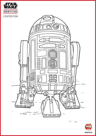 Découvre sur TFou.fr un coloriage de R2-D2 à imprimer gratuitement. Le pauvre petit robot n'a pas de bras. Pas de bras... pas de couleurs ! C'est trop triste qu'il reste sans couleurs. R2-D2 est un robot qui ne s'exprime que par des sons, mais je suis sûr que s'il pouvait parler, il voudrait que tu le colorie ! Imprime gratuitement ce coloriage Star Wars sur TFou.fr et amuse-toi ! Donne lui de superbes couleurs et fait de R2-D2 le plus beau de tous les robots.