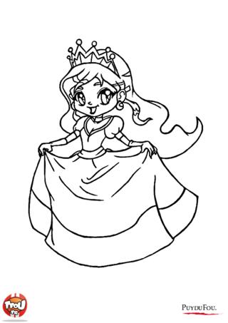 Coloriage: La princesse amusée