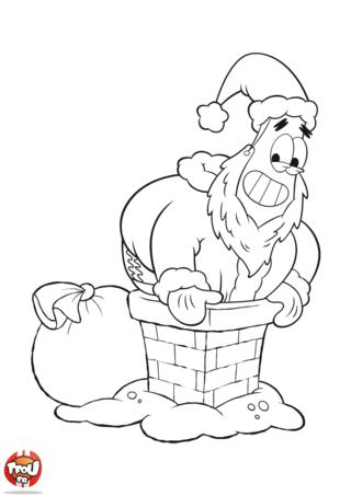 Coloriage: Patrick Père Noël