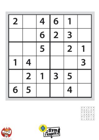 Coloriage: Sudoku Grille 7