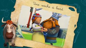 vignette_Vic le viking_Une vache à bord
