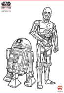 Coloriage - C-3PO et R2-D2