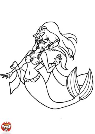 Imprimer Coloriage Princesse Siréne Picture