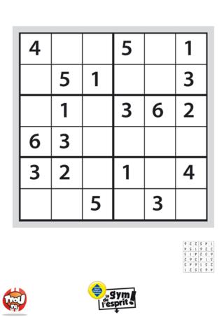 Coloriage: Sudoku Grille 8