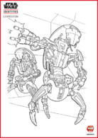 Coloriage - Robots Star Wars