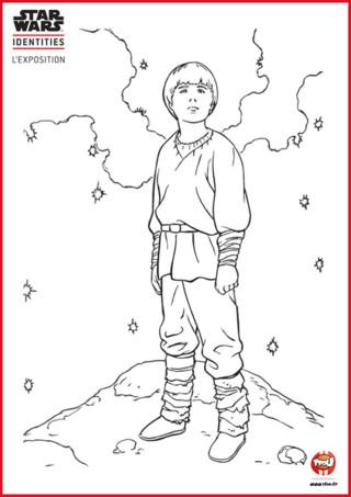 Tu aimes Star Wars ? TFou.fr te propose gratuitement un super coloriage à imprimer d'Anakin Skywalker. C'est l'un des personnages principaux de la série Star Wars, il va devenir Jedi puis...à toi de le découvrir. Il a l'air d'avoir la tête dans les étoiles ? A ton avis à quoi il réfléchit ? Peut-être qu'il aimerait bien avoir de la couleur !! Va vite sur TFou.fr et imprime gratuitement ce coloriage Star Wars. Donne de la couleur à Anakin et fait de lui un fier Jedi.