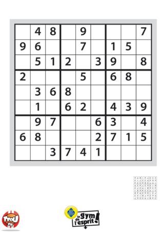 Coloriage: Sudoku Grille 10