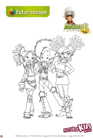 Coloriage: Arthur et ses amis
