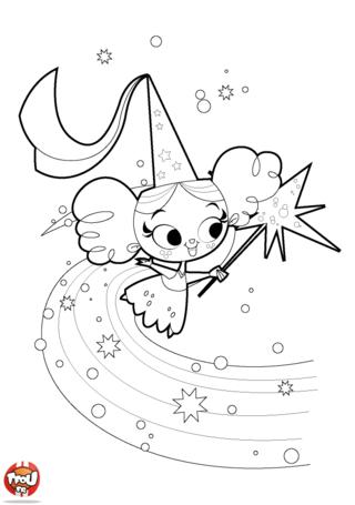 Coloriage: Petite fée vole