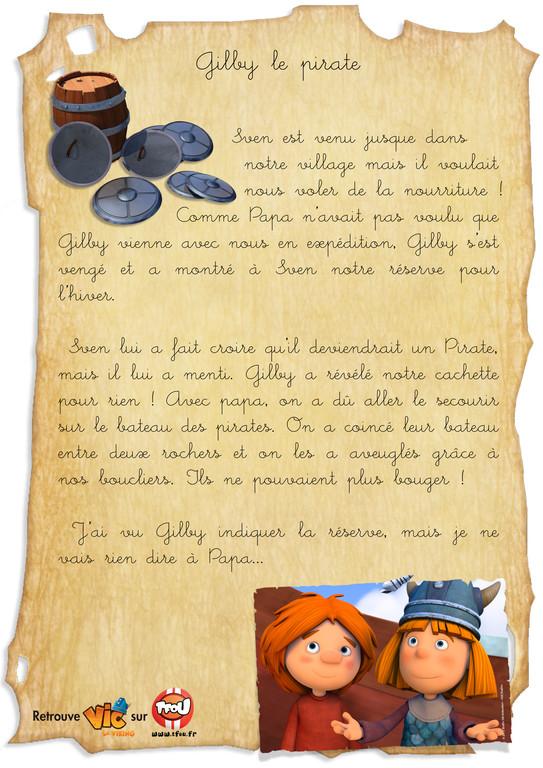 carnet de bord vic le viking Gilby le pirate