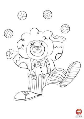 Imprime ce coloriage pour enfant de clown sur TFou.fr et amuse-toi avec Vincent le clown ! Vincent est un clown très drôle et malicieux, qui aime faire rire les enfants. Sa spécialité ? Jongler avec des balles de toutes les couleurs. Il est vraiment trop fort et arrive à jongler avec quatre balles à la fois, tout en gardant son grand sourire. Toi aussi tu aimes les coloriages pour enfant de clown ? Amuses-toi à redonner des couleurs à Vincent le clown qui a hâte d'être affiché dans ta chambre.