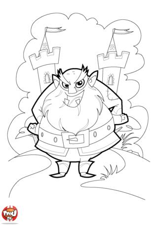 Coloriage: Méchant ogre